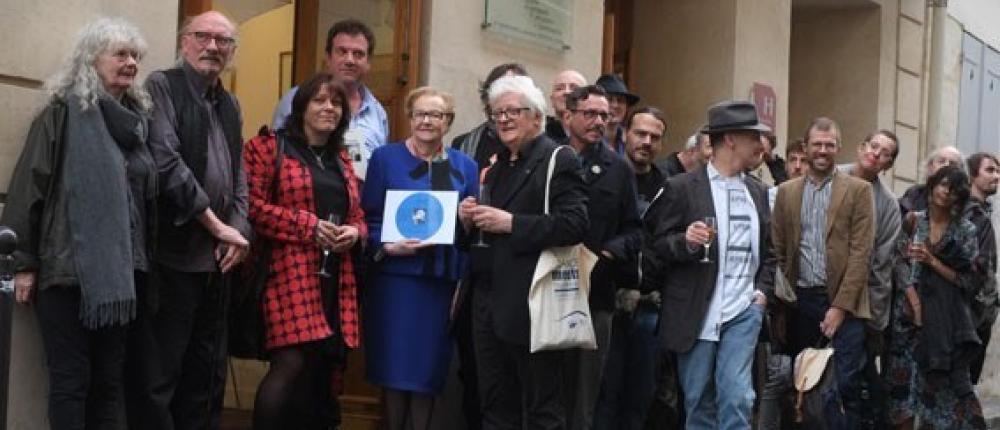 En l'honneur de Brion Gysin et William Burroughs à l'ancien Beat Hotel - 60e anniversaire de